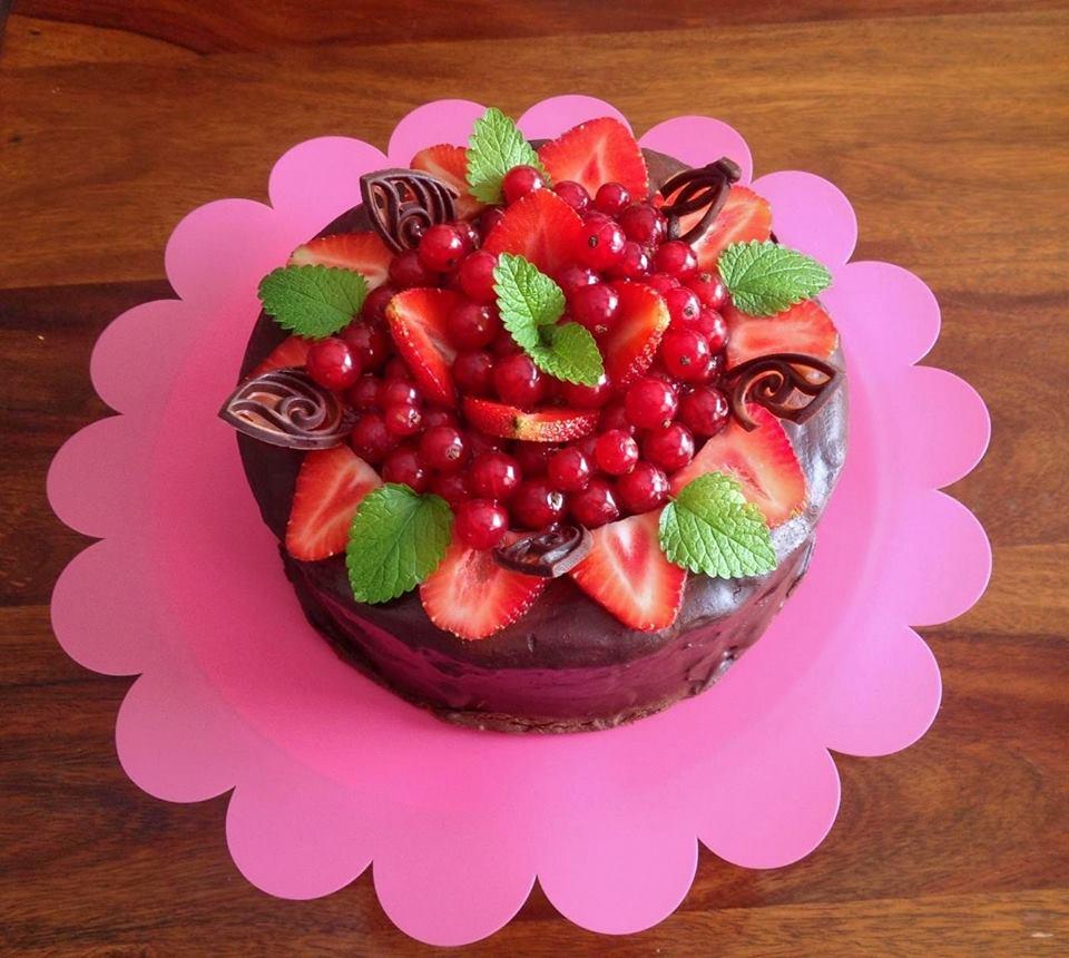 torcik z owocami