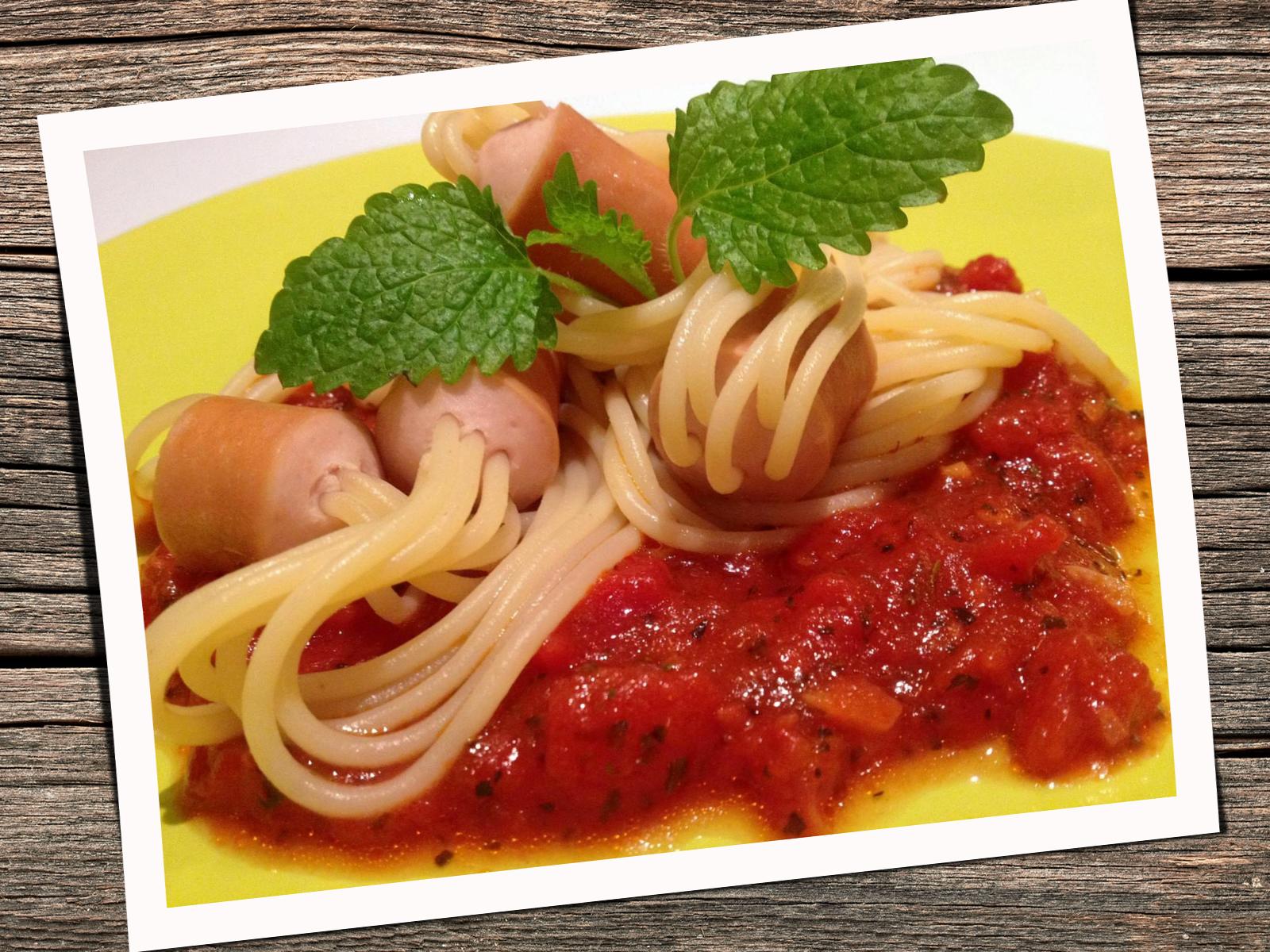 Spaghetti – hot dog.