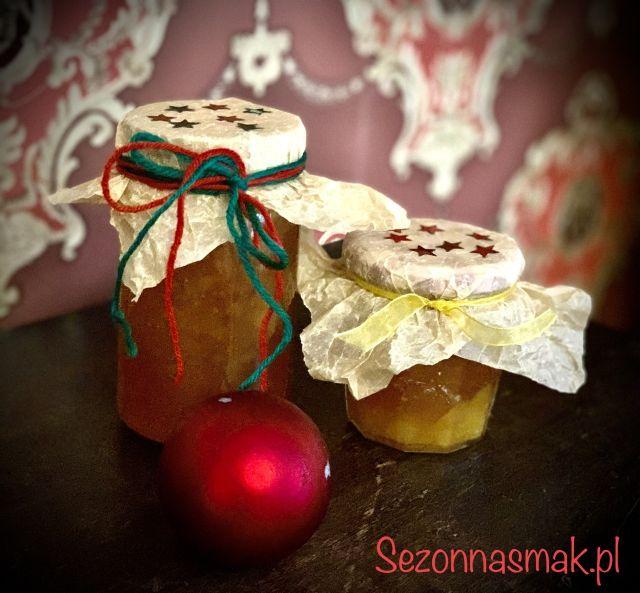 Konfitura z jabłek, pomarańczy i karmelu.